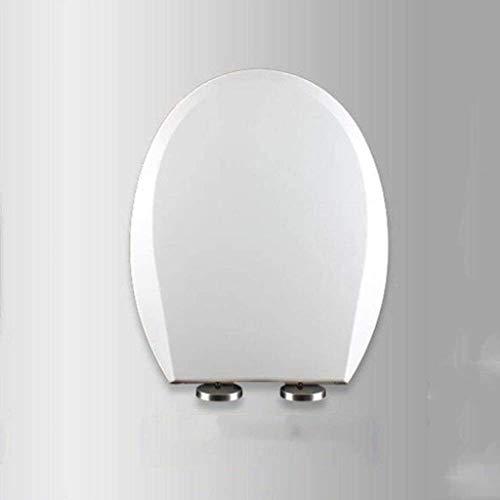 ZHPBHD Toilet Seat U/V/O Forma Bianco igienici Coperchio con Servizi igienici Fisso Soft Close Regolabile Cerniera a sgancio rapido Top Copertura di sede Uso della Famiglia,