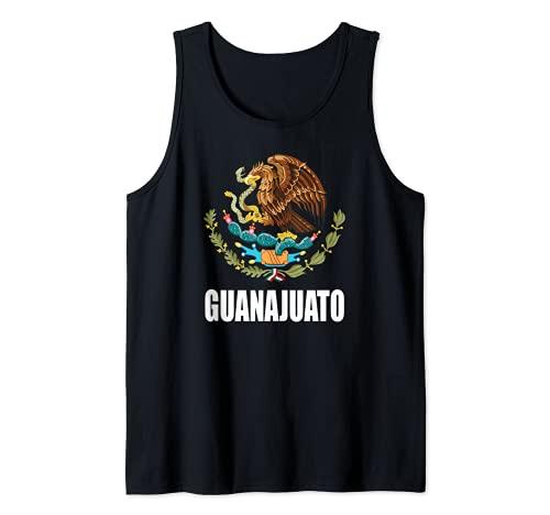 Guanajuato Mexico Estado Escudo Mexicano Camiseta sin Mangas