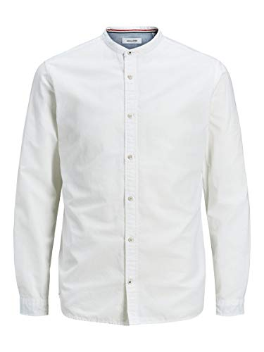 JACK & JONES Herren Jjesummer Band Shirt L/S S20 Sts Hemd, White, M EU