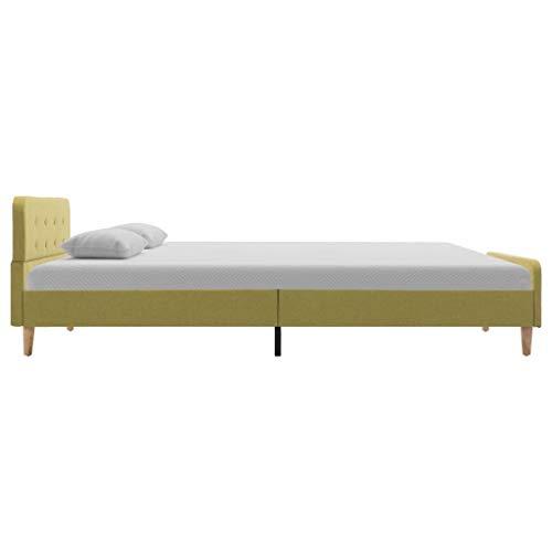 vidaXL Bedframe Stof Groen 120x200 cm Bed Twijfelaar Ledikant Slaapkamermeubel