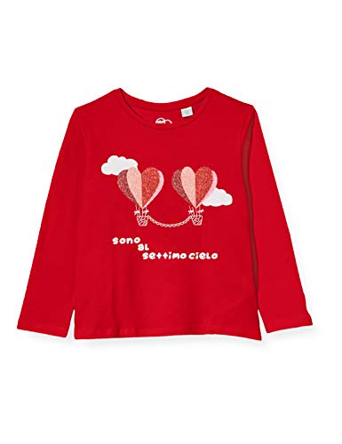 Chicco Mädchen T-Shirt Manica Lunga Bimba Pullunder, Rot (Rosso 075), 104