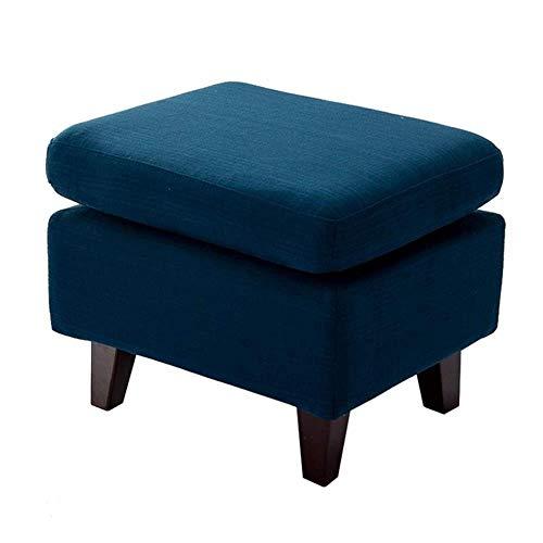 THBEIBEI Schoenenbank, voetenbankje, opbergbank, voetensteun, poef, zitje, compatibel met woonkamer en slaapkamer, max. 120 kg, blauw