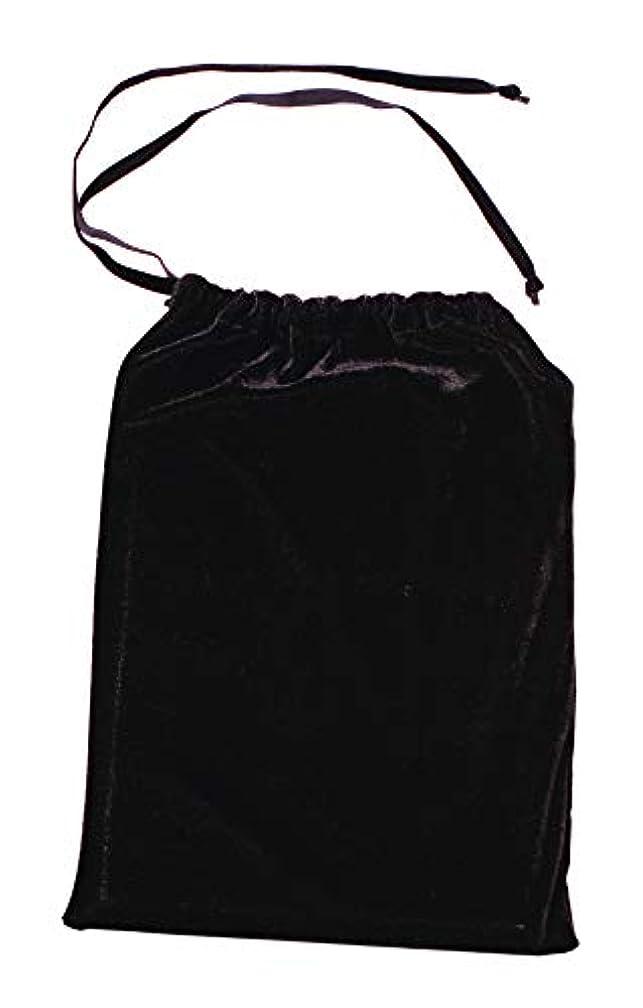 9 x 12 Drawstring Velvet Bag - Black