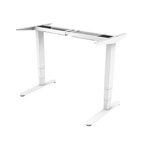 Flexispot E5W Höhenverstellbarer Schreibtisch Elektrisch höhenverstellbares Tischgestell, 3-Fach-Teleskop, passt für alle gängigen Tischplatten. Mit Memory-Steuerung und Softstart/-Stop