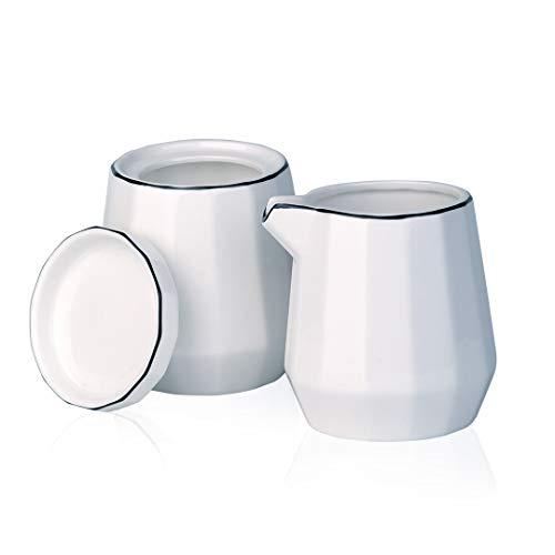 YOLIFE Milchkännchen und Zuckerdose, modernes geometrisches Design, 227 ml