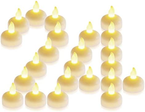 Seelight 24 Pack Waterproof Flameless Floating Tealights Warm White Battery LED Tea Lights Candles product image