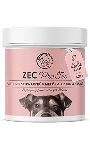 Annimally Zec ProTec Pulver für Hunde - 400g Pulver mit Schwarzkümmelöl, Zistrosenkraut, Bierhefe...