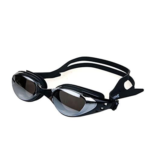JINGGEGE Gafas de natación Protección Ajustable Hombres Mujeres Mujeres Común Gafas Profesionales Natación Gafas Clare Vista Gafas (Color : Black)