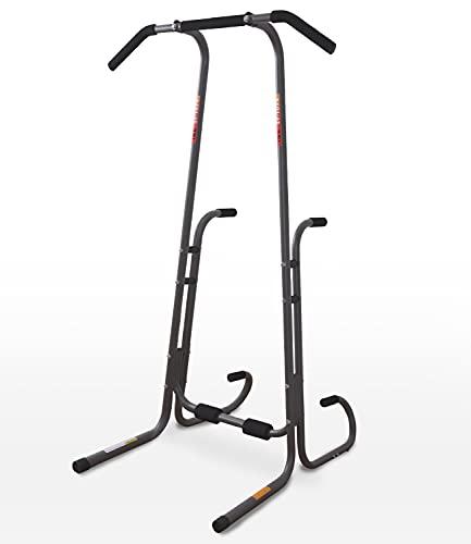 ISE Power Tower para entrenamiento en casa, multifunción, estación de fitness para Dips, Sit-Up, Push-Up, Chin-Up, flexiones, suspensión, barra para dominadas de la silla romana, máx. 110 kg, SY-1074