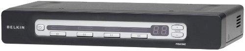 Belkin OmniView Pro 3 - Switch KVM (4 Puertos, PS2, USB), Negro
