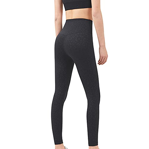JNWBFC Damen Leggings Yogahosen Bequeme Formgebung Eng Anliegende Sportlauf-Fitness Hautfreundlich Nude Pfirsich-hüfte Mit Hoher Taille