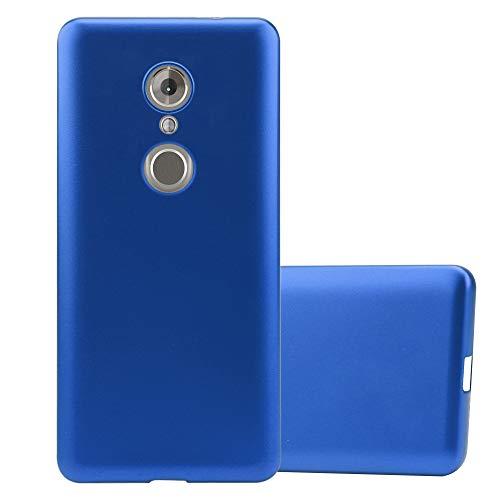 Cadorabo Funda para ZTE Axon 7 Mini en Metallic Azul - Cubierta Proteccíon de Silicona TPU Delgada e Flexible con Antichoque - Gel Case Cover Carcasa Ligera