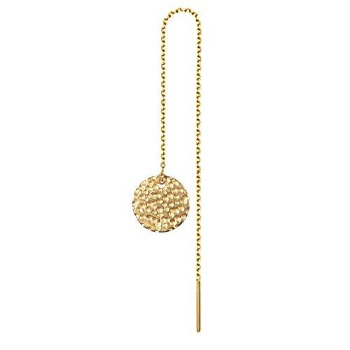 (E)[グリーンピアッシング] アメリカンピアス チェーンピアス レディース ステンレス ゴールドメダル 1個販売 片耳用 シングルピアス チャーム コイン 金色
