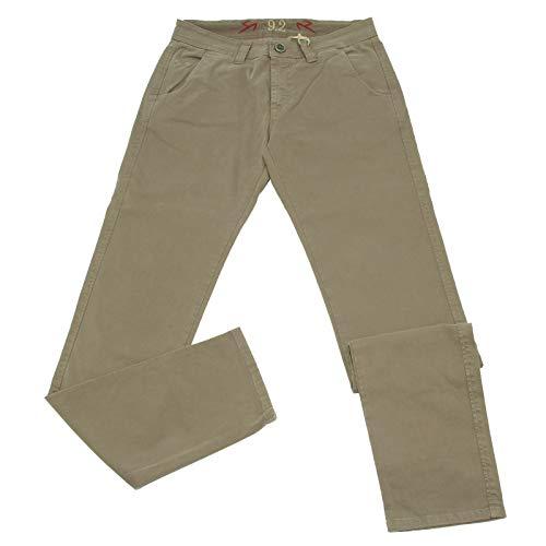 Carlo Chionna 0488K Pantalone Uomo 9.2 Jeans Dove Grey Garment Dyed Cotton Trouser Man [32]