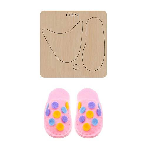 BOERNISEN Mini zapatos de bebé moldes de álbum de recortes troqueles de corte de madera DIY haciendo plantilla de decoración cuero hecho a mano Craf(stype5)