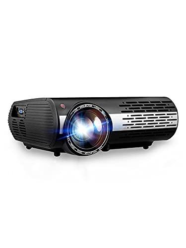 ZXNRTU Impresionante calidad de imagen Proyectores proyector de película proyector portátil Beamer for cine en casa, la resolución de 1920x1080p proyector HD proyectores, 50000 horas de vida útil, 100