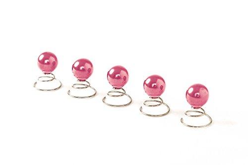 5 spirales Epingle Curlie - Accessoires cheveux mariage - 12mm - Rose, Pink