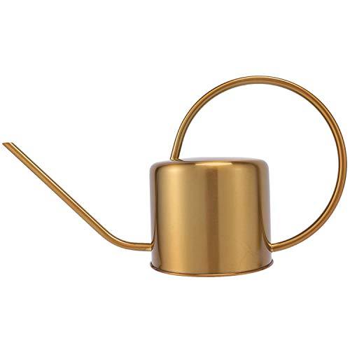 Gesh Gieter Gouden Tuin Staal 1300Ml Kleine Water Fles Gemakkelijk Te Gebruiken Handvat Perfect Voor Watering Planten…