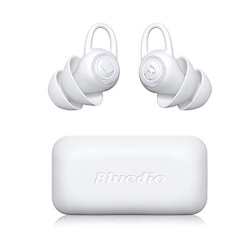 Tapones para dormir, tapones de silicona suaves y cómodos, tapones anti-ruido, protegen la audición para dormir, estudiar y trabajar (blanco, 2 pares)