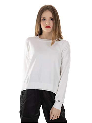 Gaudi Shirt mit Band aus Lurex Artikel 021BD53002, Weiß S