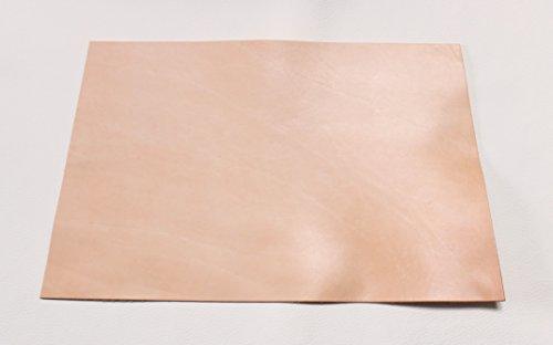 Großes Lederstück von ca 50x32 cm. Zuschnitt, Blankleder, Dickleder, Punzierleder - kräftige, pflanzlich/vegetabil gegerbte Rindleder mit 3,2-3,5 mm Stärke und unverfälschtem Narbenbild im Leder