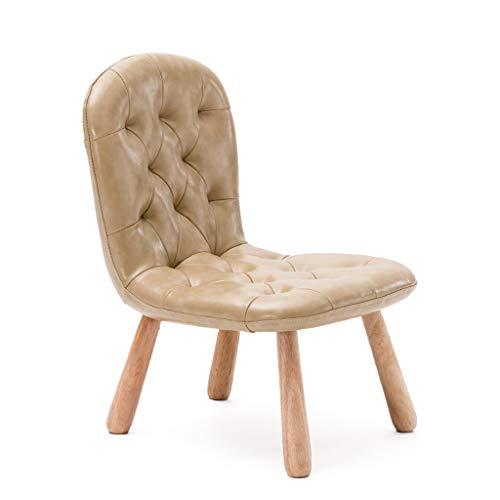Kinderstoel massief houten kinderkruk kleuterschoolkruk bureaustoel leerstoel kleine fauteuil home backsofa schrijftstoel schilderstoel Beige