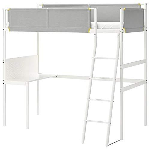 IKEA(イケア)『VITVAL ロフトベッドフレーム デスクトップ付き』