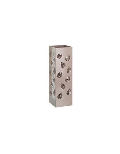Portaombrelli in Metallo Design Moderno Finitura Lucida Fogli di Due Colori, Casa e altro ancora Special Black Friday - Beige