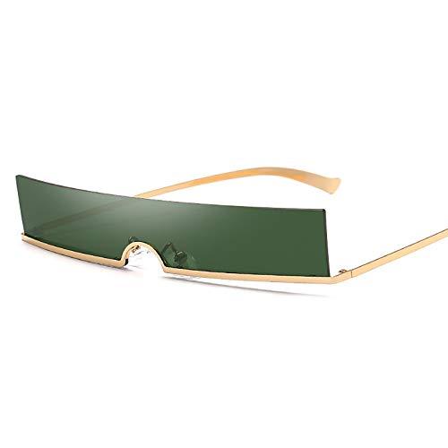 QFSLR Personalizado Rectángulo Mini Sin Marco Señoras Sun-Mirror Diseño De Moda UV400 Gafas De Sol Protectores,E