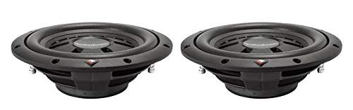"2) ROCKFORD FOSGATE R2SD2-10 10"" 800W Car Shallow/Slim Subwoofers Subs R2SD210"