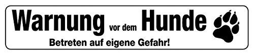 Blechwaren Fabrik Braunschweig GmbH Avertissement avant le chien plaque de rue de magnétique en fer-blanc 16 x 3,5 cm Str M 13