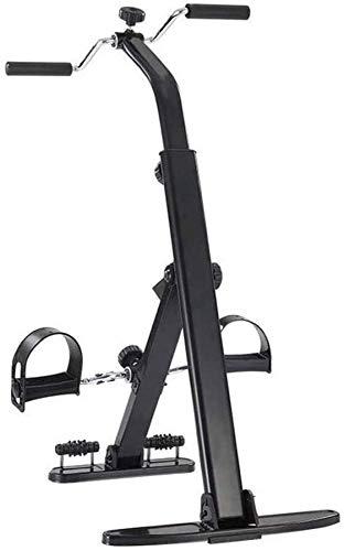 Wghz Mini Bicicleta estática Magnética Mini Ejercitador de Pedales para el Hogar Oficina Debajo del Escritorio Bicicleta con Pantalla LCD para Pierna/Brazo, Mini Bicicleta Bicicleta para Ancian