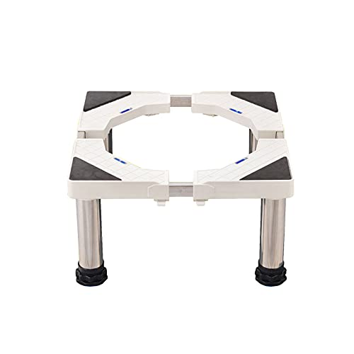 YiYYPT Soporte para Lavadora Carga 300 Kg Ajustable Largo/Ancho 42-68cm FrigoríFico Base Nevera y Aire Acondicionado Heightening Estante Lavavajillas Pedestal Altura 28-31cm (28-31cm,4 Legs)