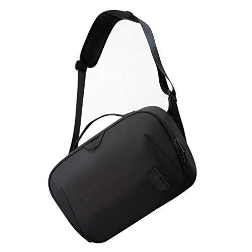 Kameratasche BAGSMART Große Umhängetasche Schultertasche, für DSLR SLR-Kamera & Zubehör, Schwarz