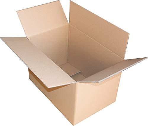 2 St. Faltkarton 800x600x400 2-wellig braun 2.40 BC-Welle Versandverpackung 80x60x40 Umzugs Bücherkartons mit Zusatzriller in der Mitte