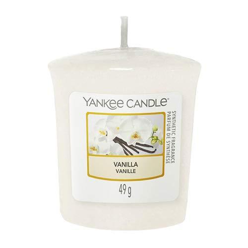 Yankee Candle 49 g Vanilla Votive/Sampler Candle, Cream, l x 4.6cm w x 4.8cm h