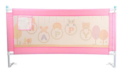 Vic Kid® Adjustable Baby Bedrail Guard Bed Fence Size: L 178cm* H 66cm (Pattern : Pink Happy Bear)