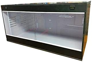 Critter Condo Reptile Cage 48X24X24 Bearded Dragon Cage Lizards Cages Snake Cage Black/White