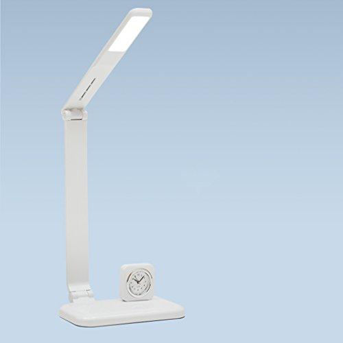 Lampe de table F La lumière de Dimmable de lumière de lecture de pièce de chevet de la lampe de bureau de la lampe LED 5W, insèrent des lumières se pliantes