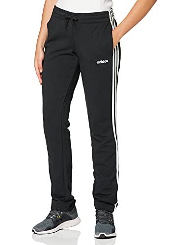 adidas Damen Essentials 3-Streifen Open Hem Trainingshose, Black/White, M