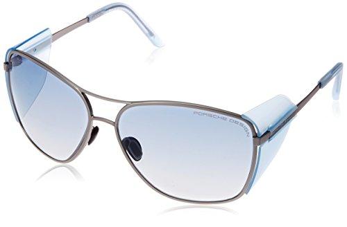Porsche Design Unisex Sonnenbrille P8600, Gr. Medium, Blau (Blau C)