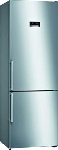 Bosch KGN49XIDP Frigorifero XXL con Freezer, A+++, 203 x 70 cm, Consumo 202 kWh Anno, Inox Impronta, 338 L, Liquido di Raffreddamento, VitaFresh, Super Refrigeratore