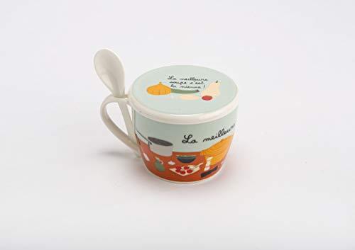 Amadeus 150790 Coffret Bol à Soupe LA Meilleure en Porcelaine 550ml