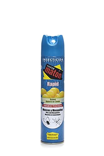 Vinfermatón - Insecticida Matón Rapid Mosquitos y Moscas, Perfume Limón, 300ml