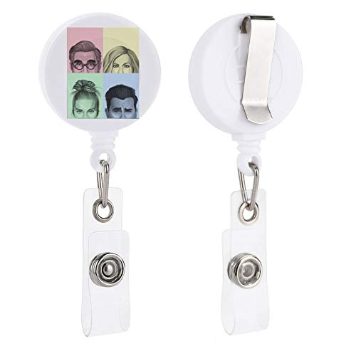 Ew David Rose Apothecary Retractable Badge Holder Reel Clip, ID Badge Clips for Kids Office Staff Student