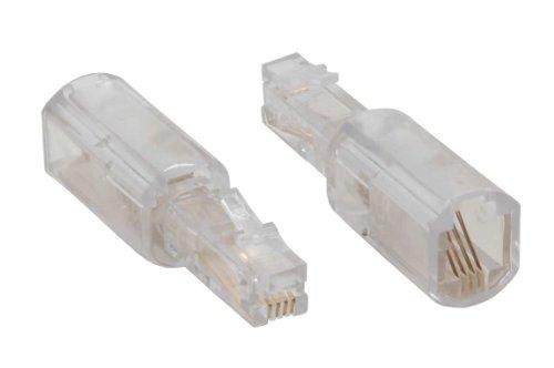 InLine Twist-Stop, Entwirrer für Kabel von Telefonhörer, schmale kurze Bauform
