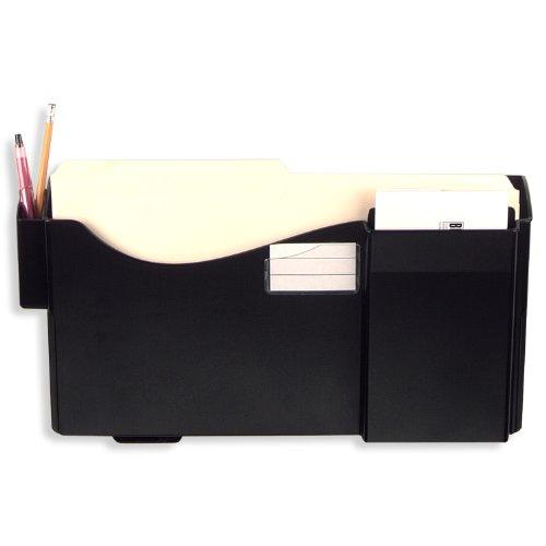 Officemate Grande Central Filing System, Starter Pocket with Pen, Pencil Holder and Envelope/Post Card Slot, Black (21720)