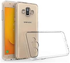SkyTree Flexible Plain Soft Transparent Back Cover for Samsung Galaxy J7 Duo
