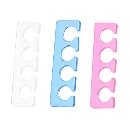Minkissy Separadores de Dedos de Silicona Espaciadores de Dedos para Esmalte de Uñas Herramientas de Pedicura Yoga Separadores de Dedos Alisadores Divisores Lavables de Uñas de Los Pies 3