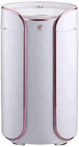 XXXCCC Wasmachine, mini-wasmachine, 2-in-1, draagbaar, halfautomatische wasmachine Rotary-droger met afvoerbuis, eenvoudig, afneembare afvoerbasket roze